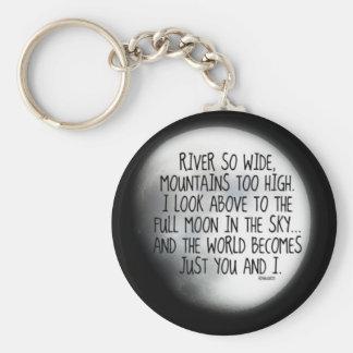 Porte-clés Sous le même poème de lune