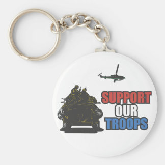 Porte-clés Soutenez notre porte - clé de troupes