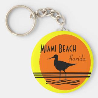 Porte-clés Souvenir de coucher du soleil de Miami Beach