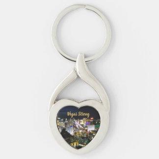 Porte-clés Souvenir en forme de coeur fort de Vegas