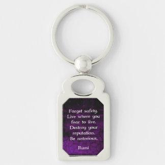 Porte-clés Soyez citation inspirée notoire de Rumi