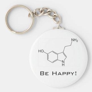 Porte-clés Soyez heureux ! Porte - clé de sérotonine