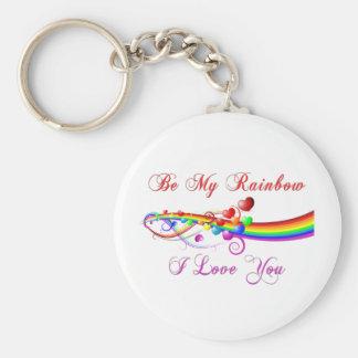Porte-clés Soyez mon homosexuel Valentine d'arc-en-ciel