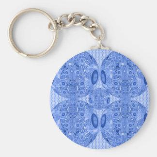 Porte-clés Sphères psychédéliques bleues