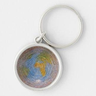 Porte-clés spiral terre