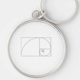 Porte-clés Spirale de Fibonacci