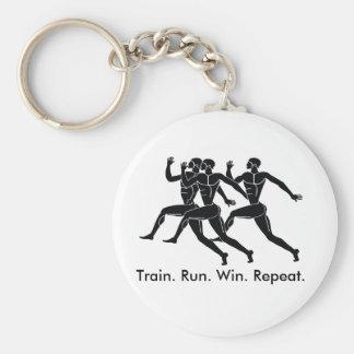 Porte-clés Sports grecs d'athlète courant la formule de gain
