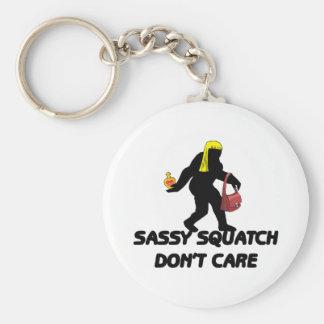 Porte-clés Squatch impertinent ne s'inquiètent pas