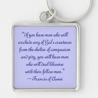 Porte-clés St Francis du porte - clé animal de compassion