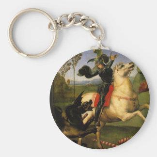 Porte-clés St George et le dragon