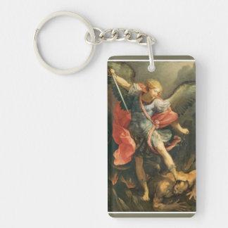 Porte-clés St Michael Arkhangel massacrant le diable