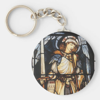 Porte-clés St Michael par Burne Jones, Arkhangel vintage