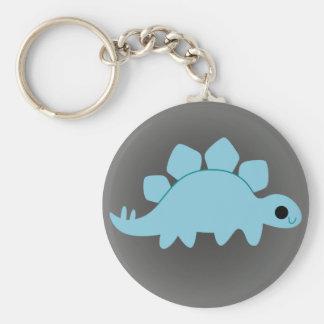 Porte-clés Stegosaurus bleu mignon sur le gris