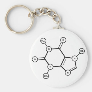 Porte-clés structure moléculaire de caféine