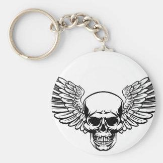 Porte-clés Style à ailes de gravure sur bois gravé par cru en