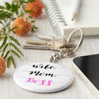 Porte-clés Style de calligraphie de patron de maman d'épouse
