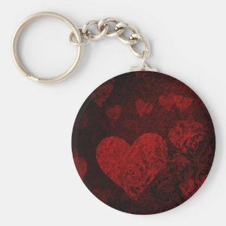 Porte-clés Style gothique de rouge de coeur