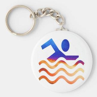 Porte-clés Succès de natation - esprit frais en périodes