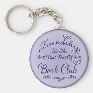 Porte-clés Support de clé d'amitié de club de lecture