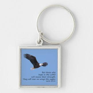 Porte-clés Sur des ailes aimez le porte - clé d'Eagles
