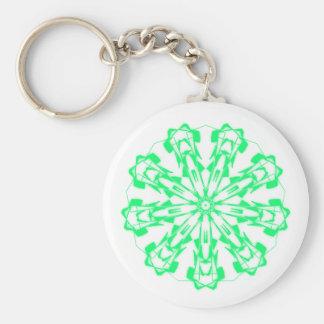 Porte-clés Sweet Pastel Mandala Fractal 1
