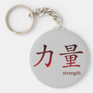 Porte-clés Symbole chinois pour le porte - clé de force