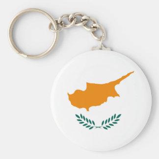 Porte-clés Symbole de drapeau de pays de la Chypre longtemps