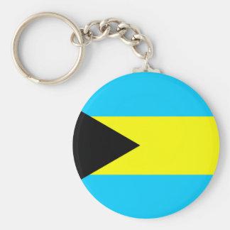 Porte-clés Symbole de drapeau de pays des Bahamas longtemps