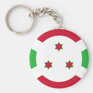 Porte-clés Symbole de drapeau de pays du Burundi longtemps