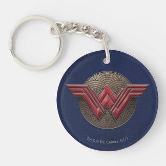 Porte-clés Symbole de femme de merveille au-dessus des