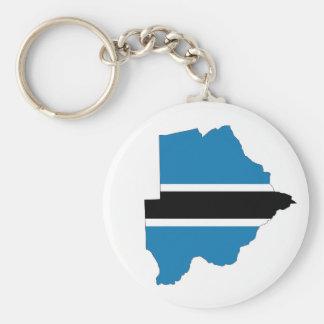 Porte-clés symbole de silhouette de forme de carte de drapeau