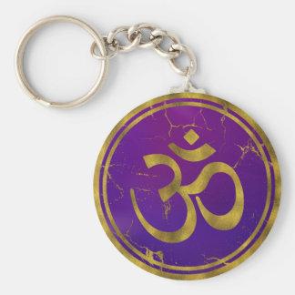 Porte-clés Symbole d'OM d'or - Aum, Omkara sur le