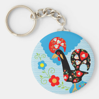 Porte-clés Symbole portugais de coq du Portugal