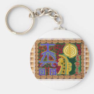 Porte-clés Symboles curatifs de Reiki par l'artiste Canada de
