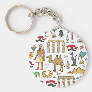 Porte-clés Symboles de couleur de motif de l'Egypte