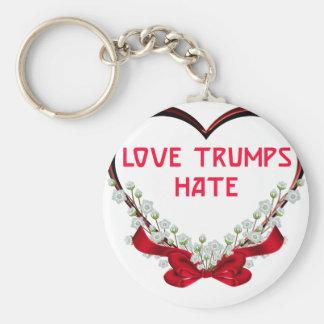 Porte-clés T-shirt de cadeau de Donald de haine d'atouts