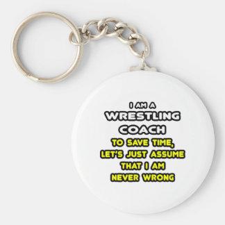 Porte-clés T-shirts et cadeaux de lutte drôles d'entraîneur