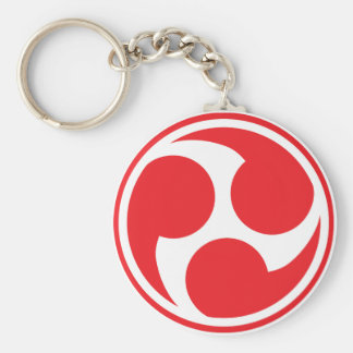 Porte-clés Taiko rouge Mitsudomoe