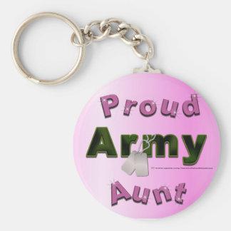 Porte-clés Tante fière Keychain d'armée