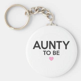 Porte-clés Tante To Be Cute Print pour des baby showers