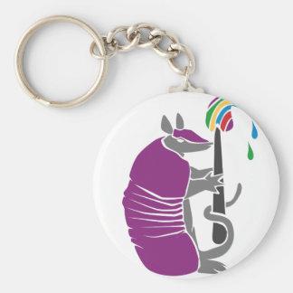 Porte-clés Tatou artistique avec le pinceau