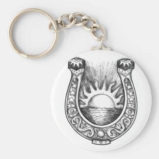 Porte-clés Tatouage en fer à cheval de Sun et de mer
