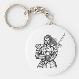 Porte-clés Tatouage samouraï de position de combat de