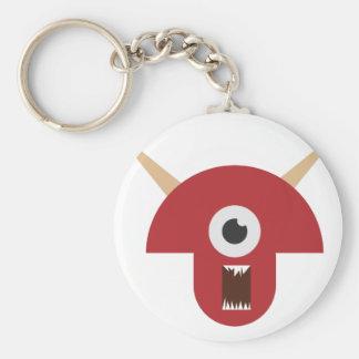 Porte-clés Tête mauvaise de monstre