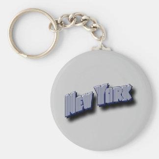 Porte-clés Texte de bannière de New York
