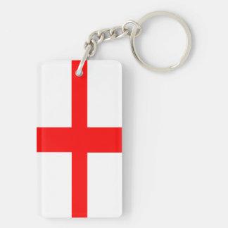 Porte-clés texte nommé anglais de long symbole de drapeau de