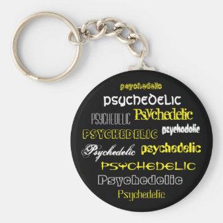 Porte-clés Texte Psychédélique Jaune
