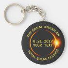 Porte-clés Texte total de coutume des Etats-Unis de l'éclipse