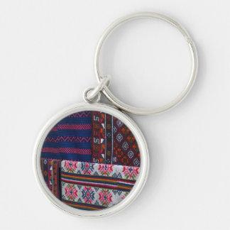 Porte-clés Textiles colorés du Bhutan