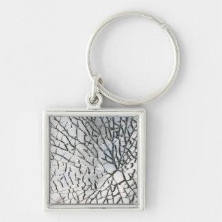 Porte-clés Texture en verre brisée